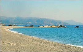 Blick am Strand nach Osten